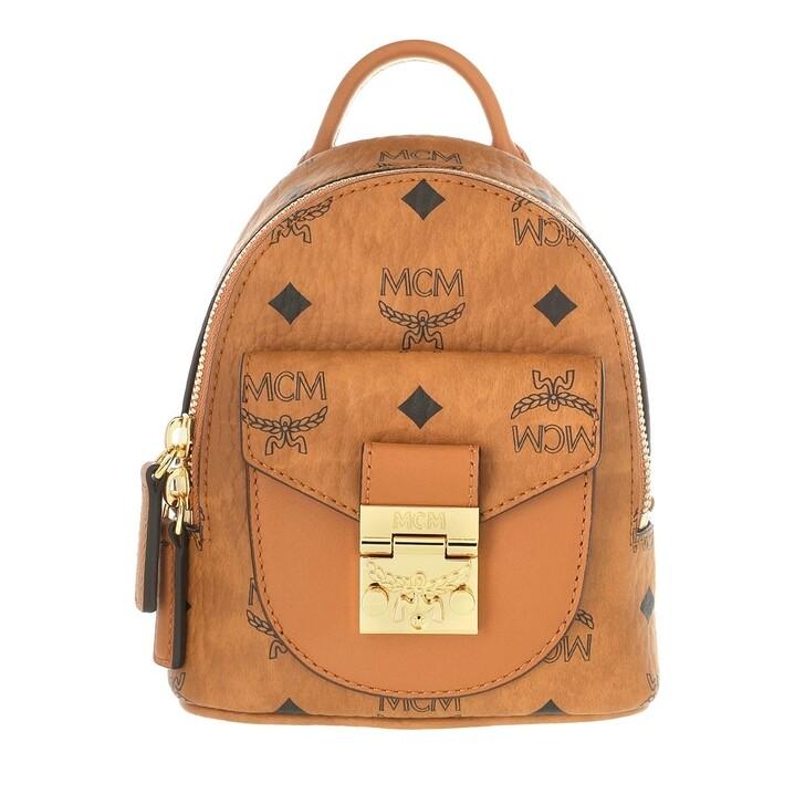Handtasche, MCM, Patricia Visetos Crossbody Bag Mini Cognac