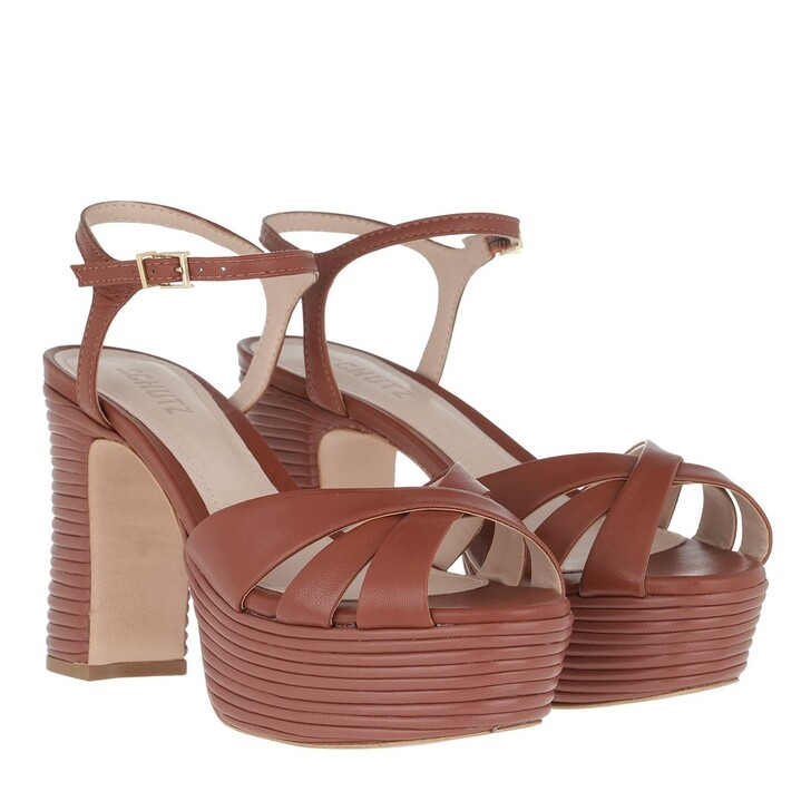 Schuh, Schutz, High Heel Sandal Brown