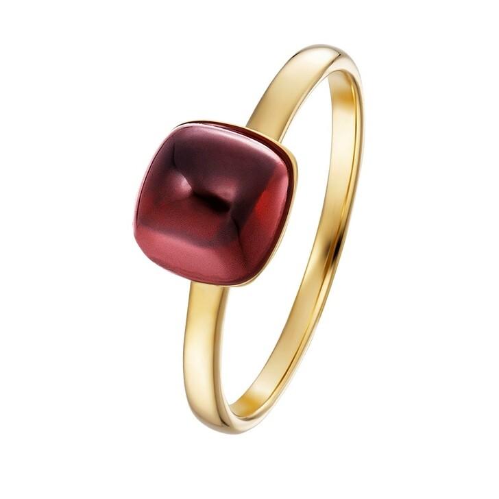 Ring, BELORO, Stacking Ring Garnet 14k Medium Gold