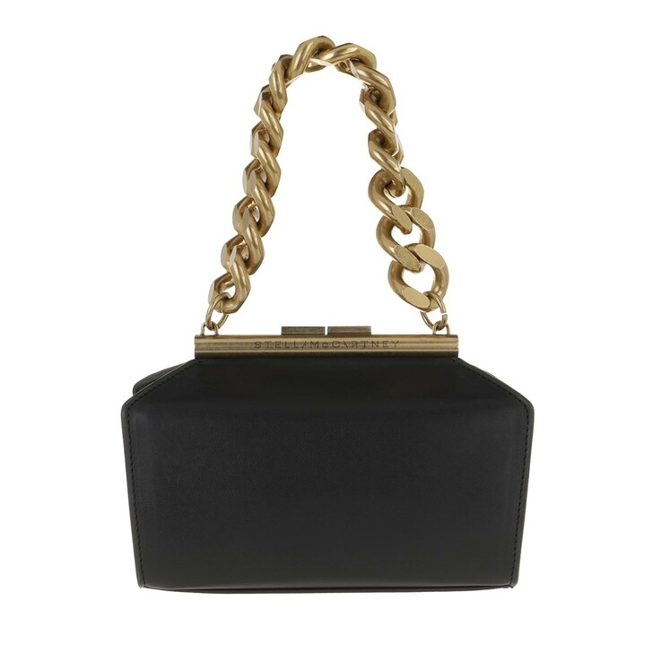 Handtasche, Stella McCartney, Small Chunky Chain Clutch Bag Black