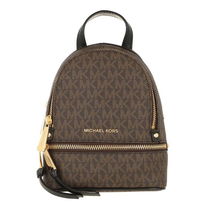 bags, MICHAEL Michael Kors, Xs Messenger Brown/Blk