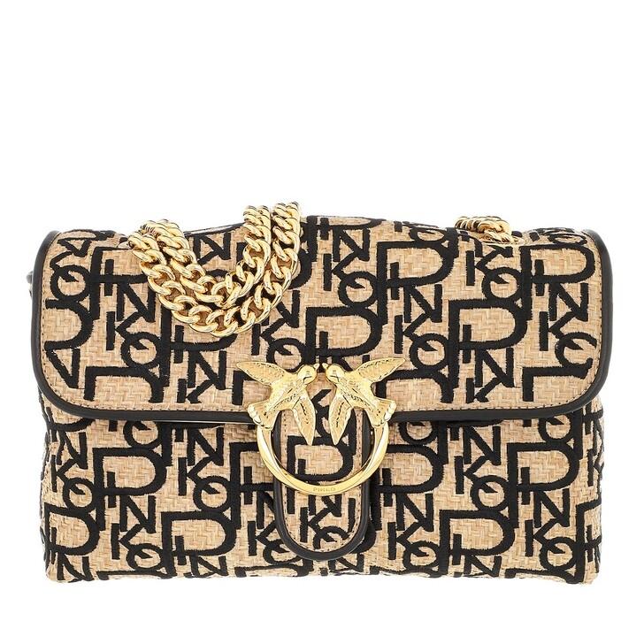 Handtasche, Pinko, Love Classic Puff Soft Rafia C Crossbody Natural/Black