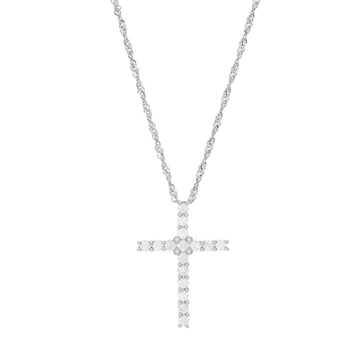 necklaces, VOLARE, Pendant with Necklace 16 Brill ca. 0,40 Platinum