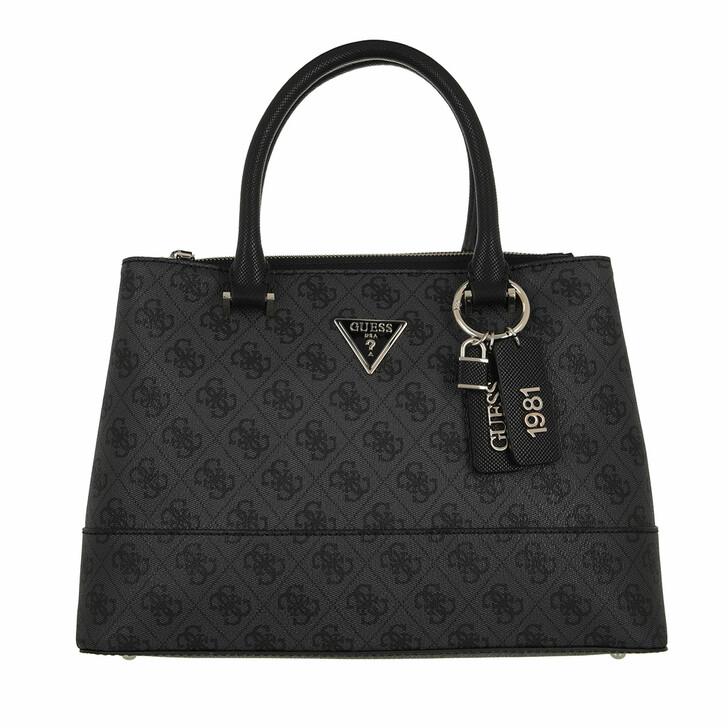 bags, Guess, Cordelia Logo Luxury Satchel Coal Logo