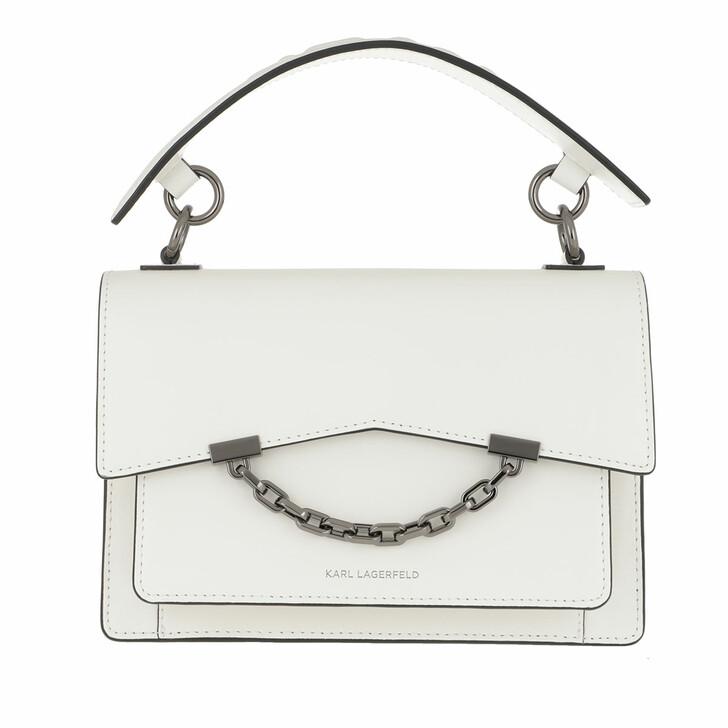 Handtasche, Karl Lagerfeld, Karl Karl Seven Shoulderbag White