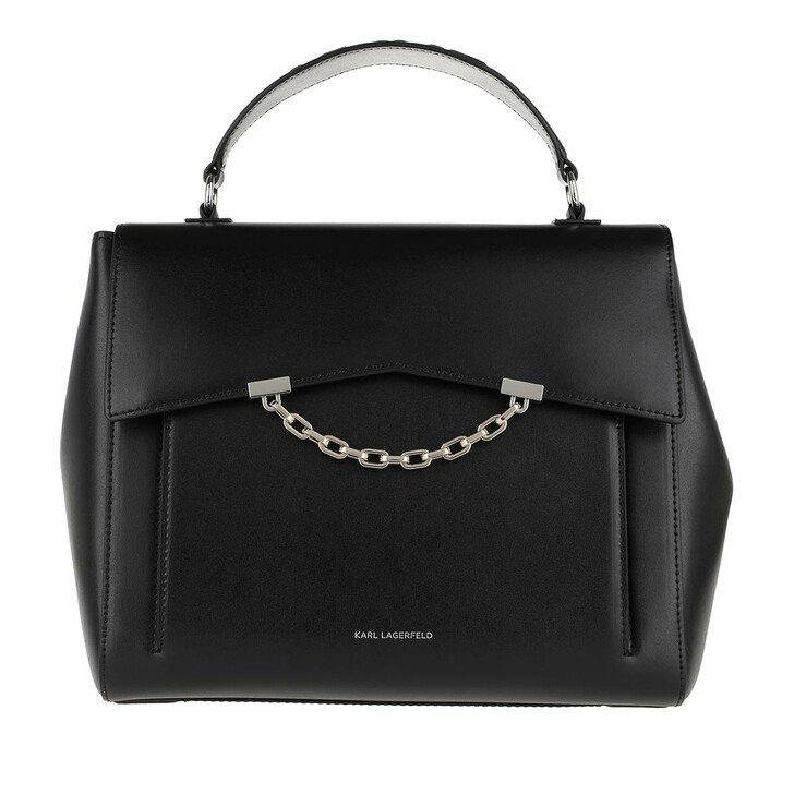 Handtasche, Karl Lagerfeld, Karl Seven Top Handle Black