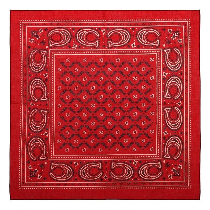 scarves, Coach, Coach Heritage Bandana Red Apple