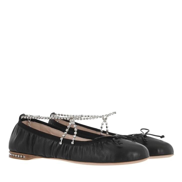 Schuh, Miu Miu, Round Toe Ballerina Black