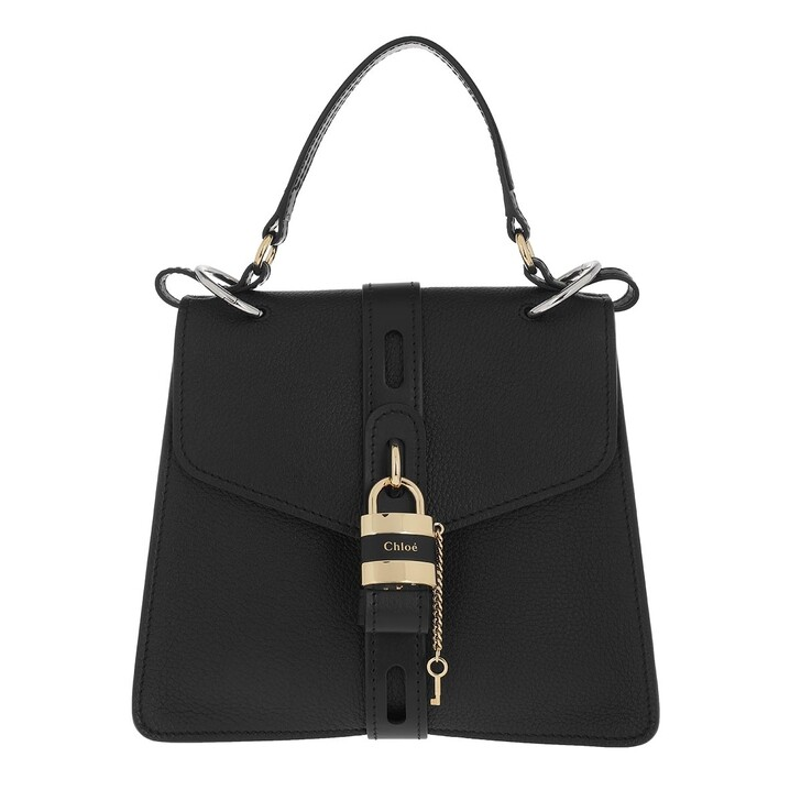 Handtasche, Chloé, Aby Small Day Bag Leather Black