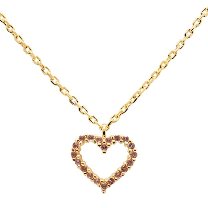 Kette, PDPAOLA, Necklace Heart Lavender/Yellow Gold