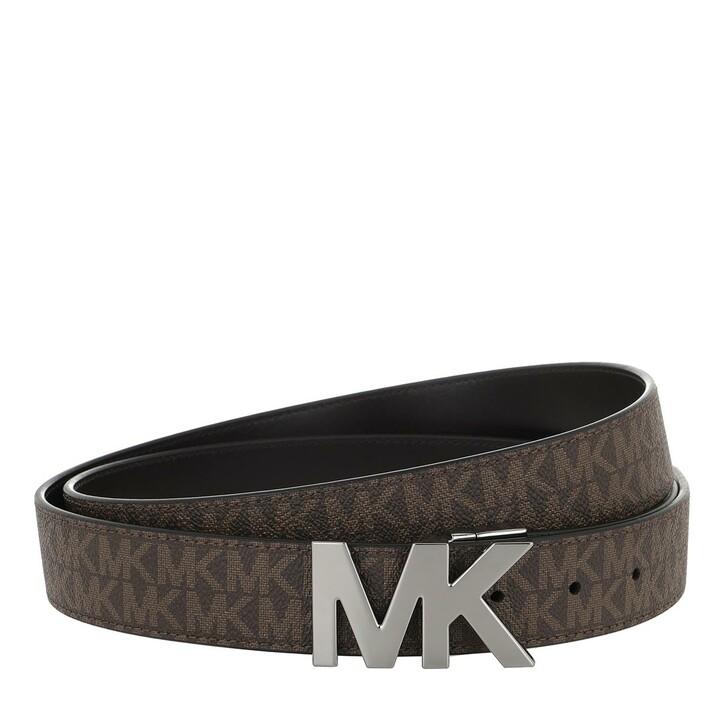 Gürtel, MICHAEL Michael Kors, 34Mm MK Buckle Belt Brown/Black