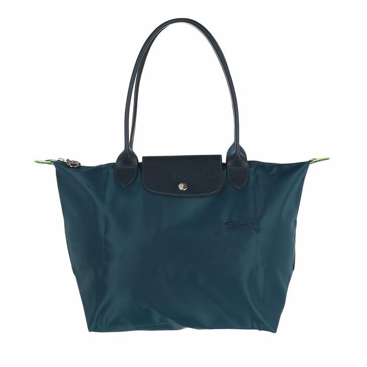 bags, Longchamp, Le Pliage Green Shoulder Bag Ocean Blue