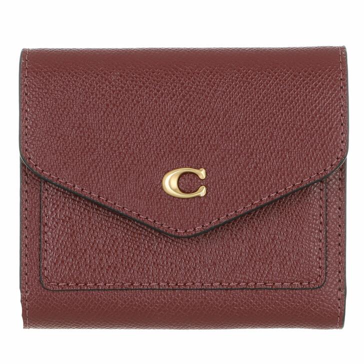 wallets, Coach, Crossgrain Leather Wyn Small Wallet Wine