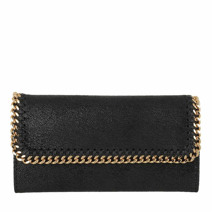 Geldbörse, Stella McCartney, Falabella Cantinental Wallet  Black