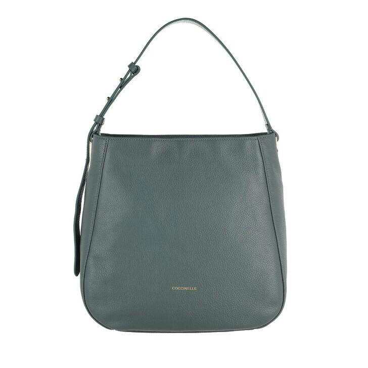 bags, Coccinelle, Lea Handbag Grained Leather  Shark Grey