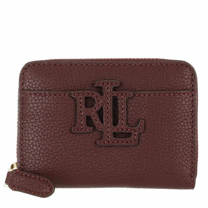 wallets, Ralph Lauren, Logo Zip Wallet Small Bordeaux