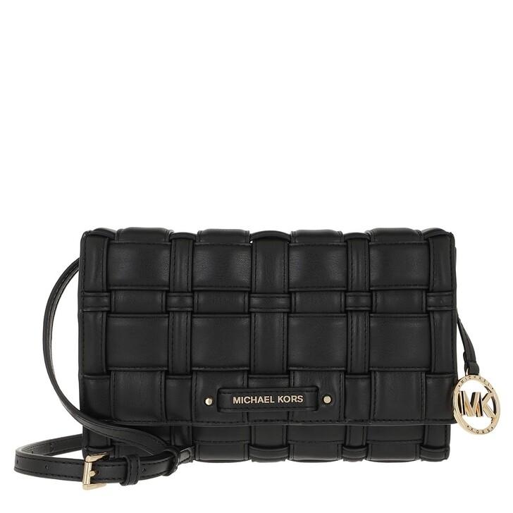 bags, MICHAEL Michael Kors, Large Clutch Xbody Black