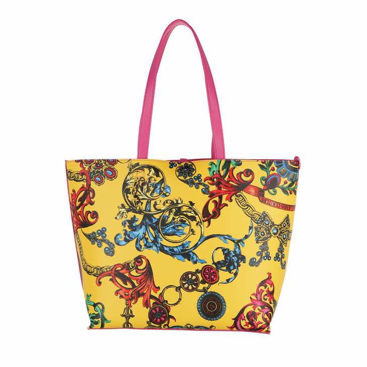 bags, Versace Jeans Couture, Shopping Bag Acid Yellow