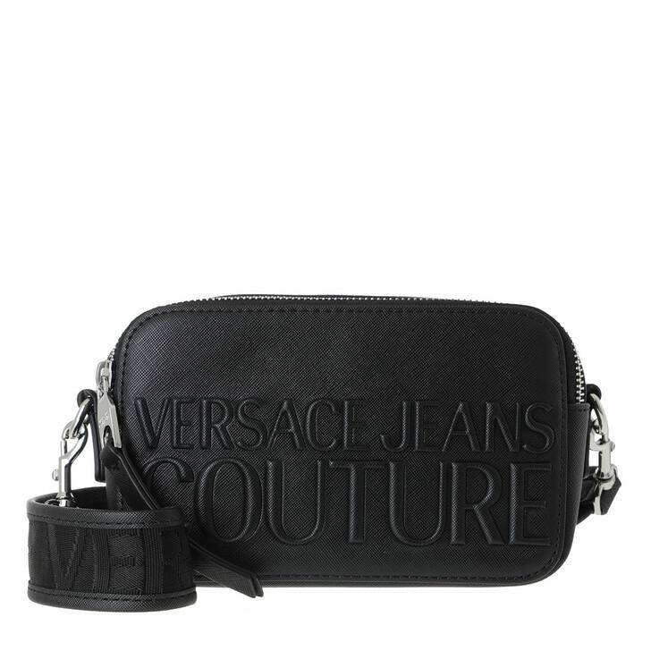 Handtasche, Versace Jeans Couture, Logo Crossbody Bag Mini Saffiano Black
