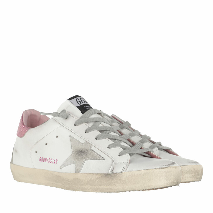 Schuh, Golden Goose, Superstar Sneakers White/Ice/Pink