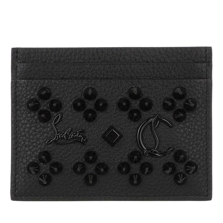 wallets, Christian Louboutin, Panettone Card Case Black/Ultrablack