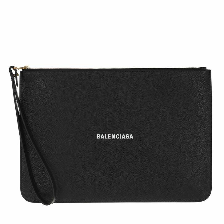 Handtasche, Balenciaga, Cash Pouch Black White