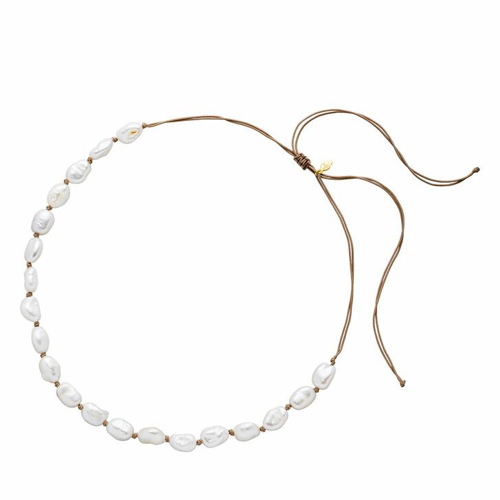 bracelets, Leaf, Choker Pearls Yellow Gold