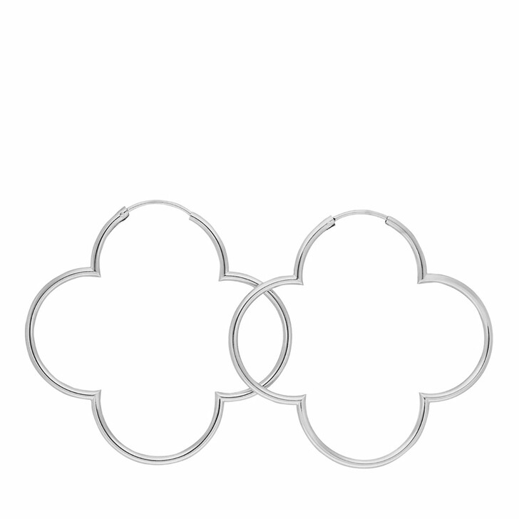 Ohrring, Leaf, Creole Clover Sterling silver