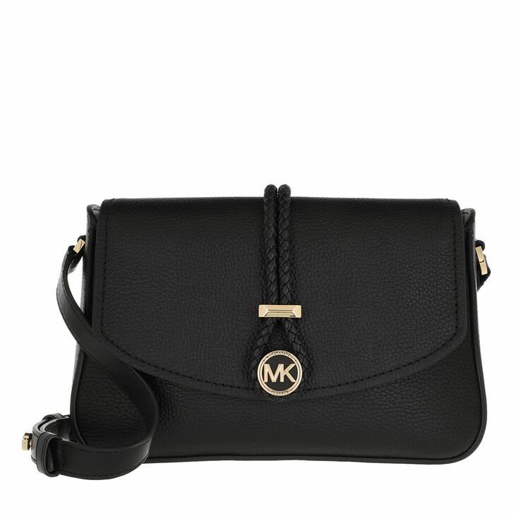 Handtasche, MICHAEL Michael Kors, Medium Flap Messenger Handbag  Leather Black