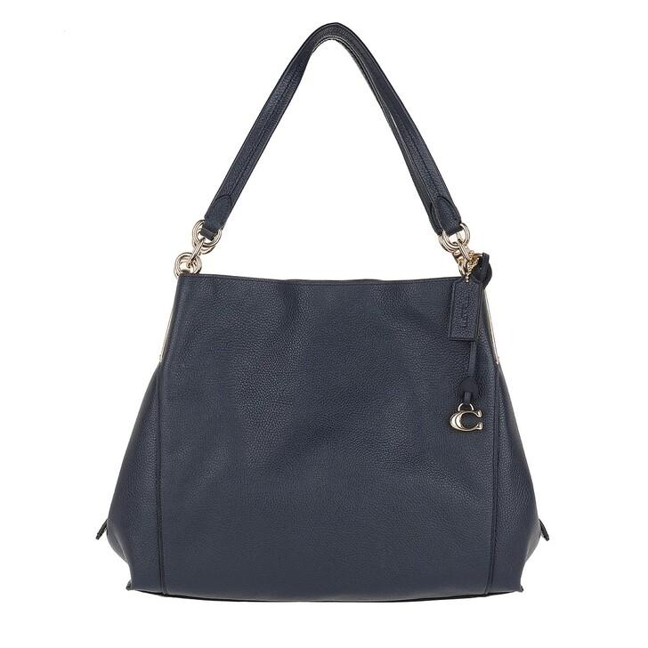 Handtasche, Coach, Polished Pebble Leather Dalton Shoulder Bag Blue