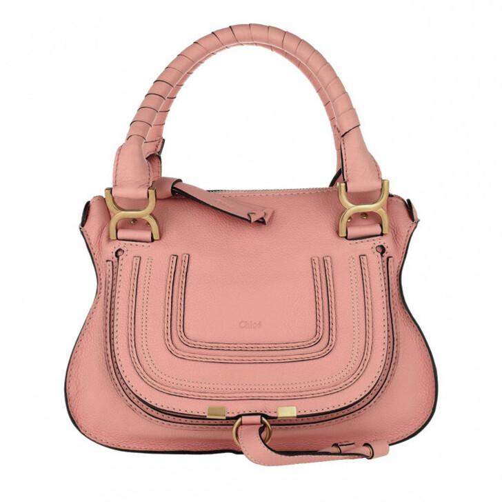 bags, Chloé, Marcie Crossbody Bag Grained Calfskin Fallow Pink