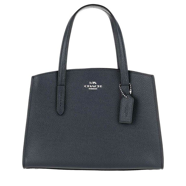 Handtasche, Coach, Polished Pebble Leather Charlie Tote Midnight Navy