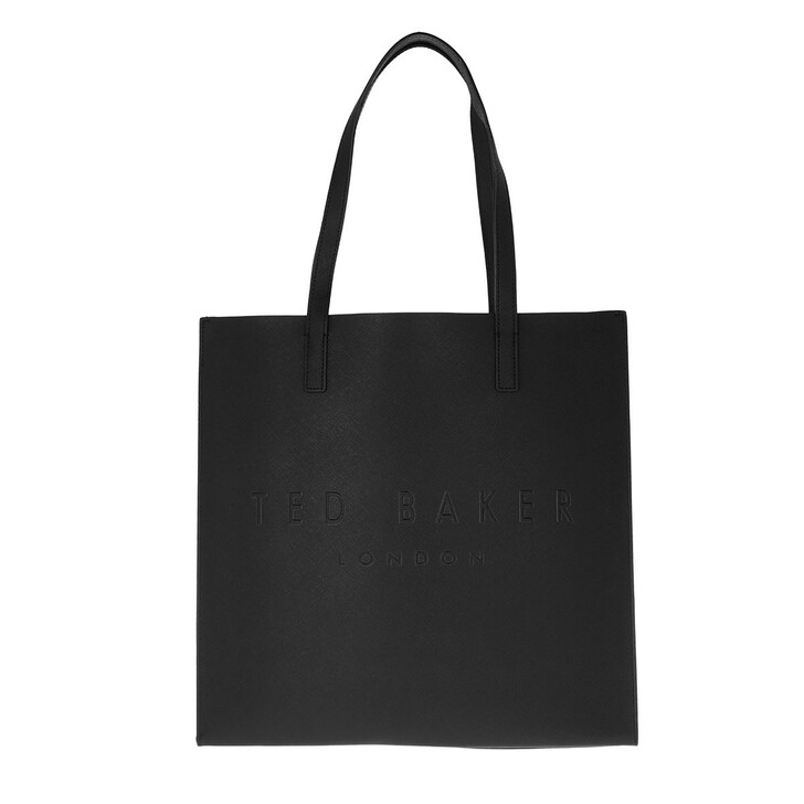 bags, Ted Baker, Soocon Crosshatch Large Icon Bag Black