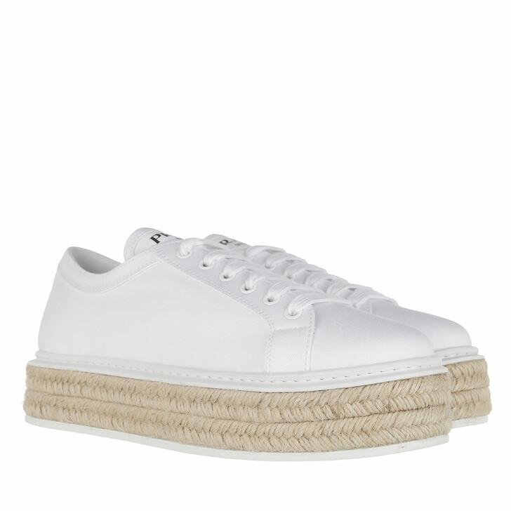 Schuh, Prada, Low Sneakers Gabardine White