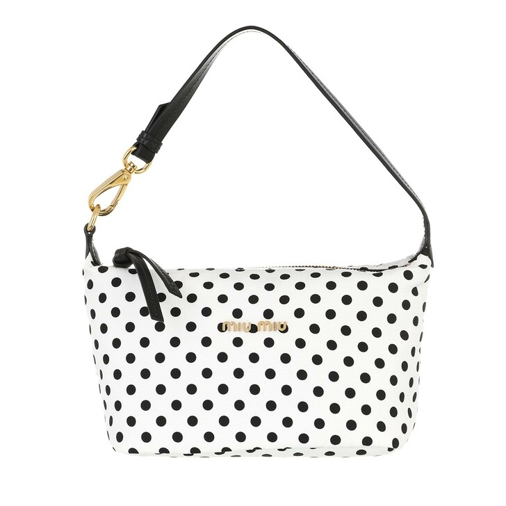 bags, Miu Miu, Miu Spirit Ciré Mini Bag White/Black