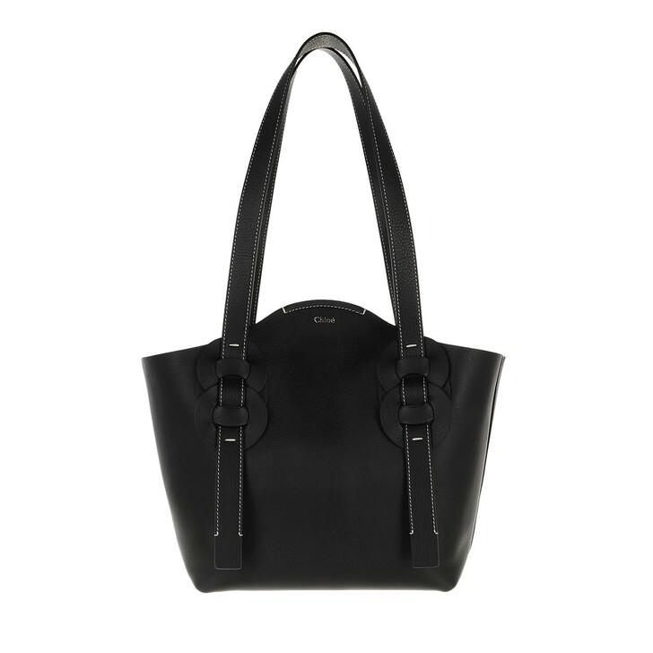 Handtasche, Chloé, Small Darryl Tote Bag Calfskin Black