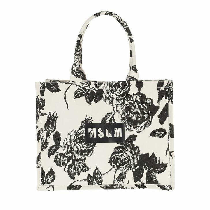 bags, MSGM, Borsa Donna Black White