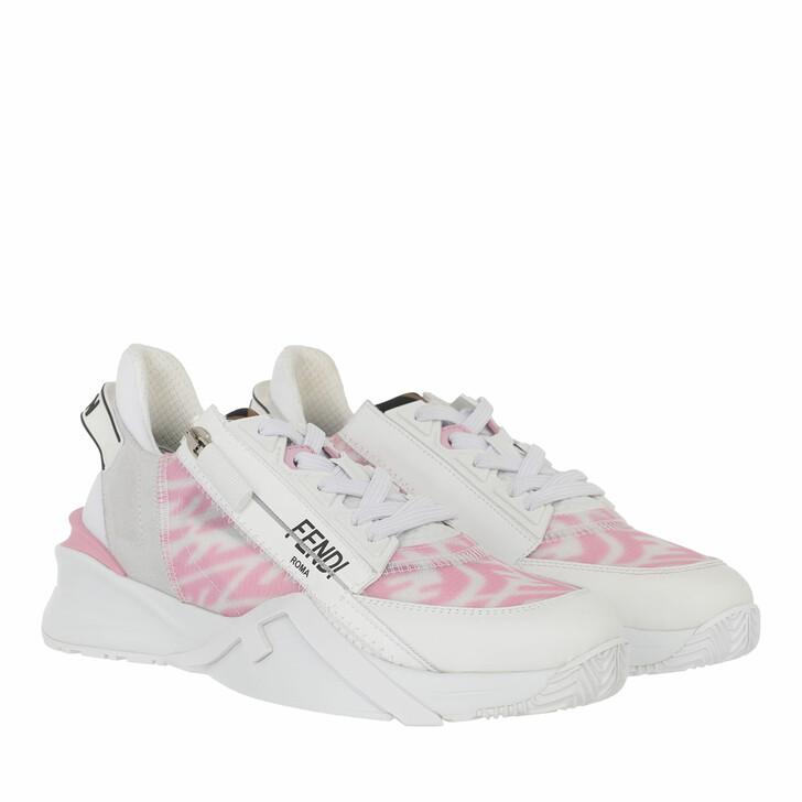 shoes, Fendi, Flow Sneakers White Rose