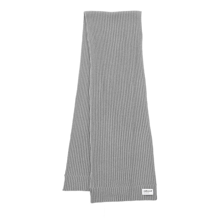 Schal, Embraced Studios, Wool-Cashmere Ribbed Scarf Grey