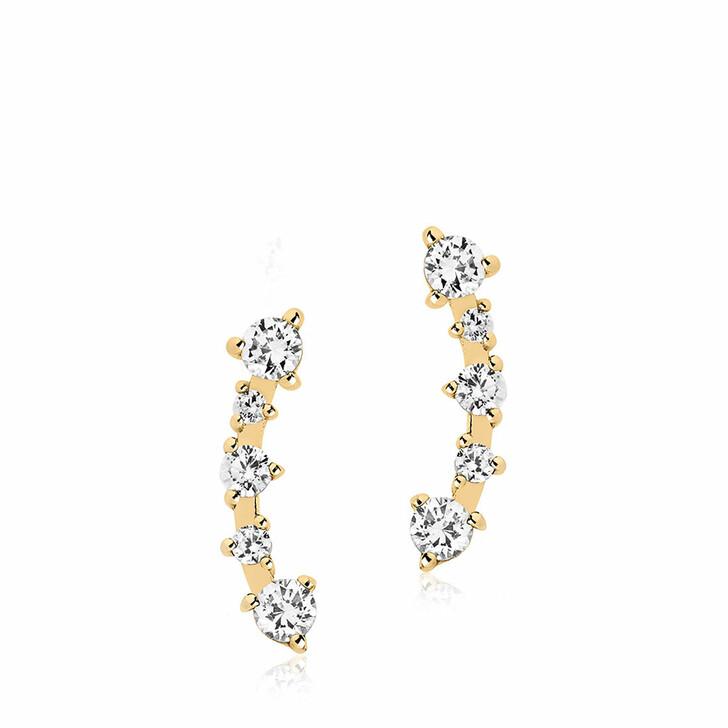 earrings, Sif Jakobs Jewellery, Princess Earrings 18K Yellow Gold Plated