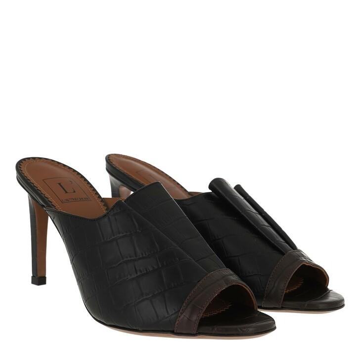 Schuh, L´Autre Chose, Heel Bicolor Darkbrown Black