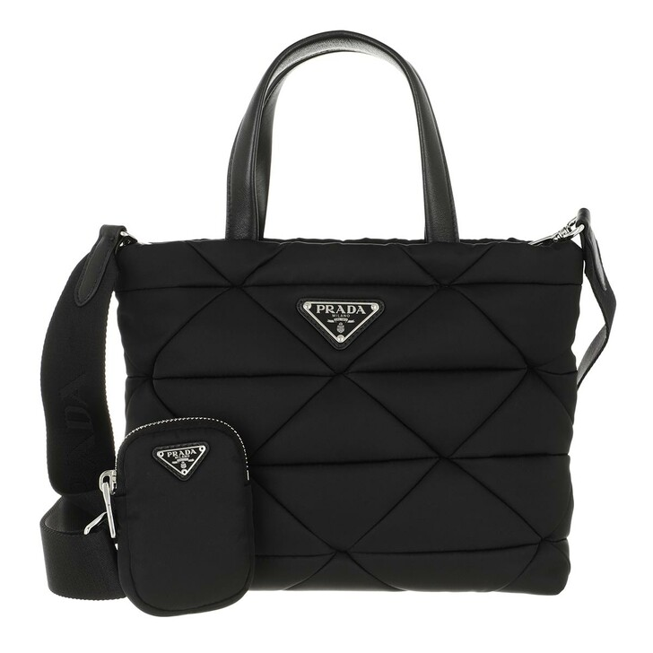 bags, Prada, Medium Shopping Bag Leather Black