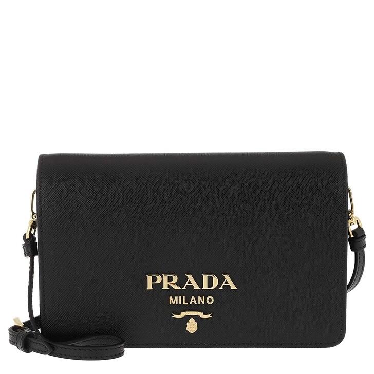 Handtasche, Prada, Wallet On Chain Leather Black
