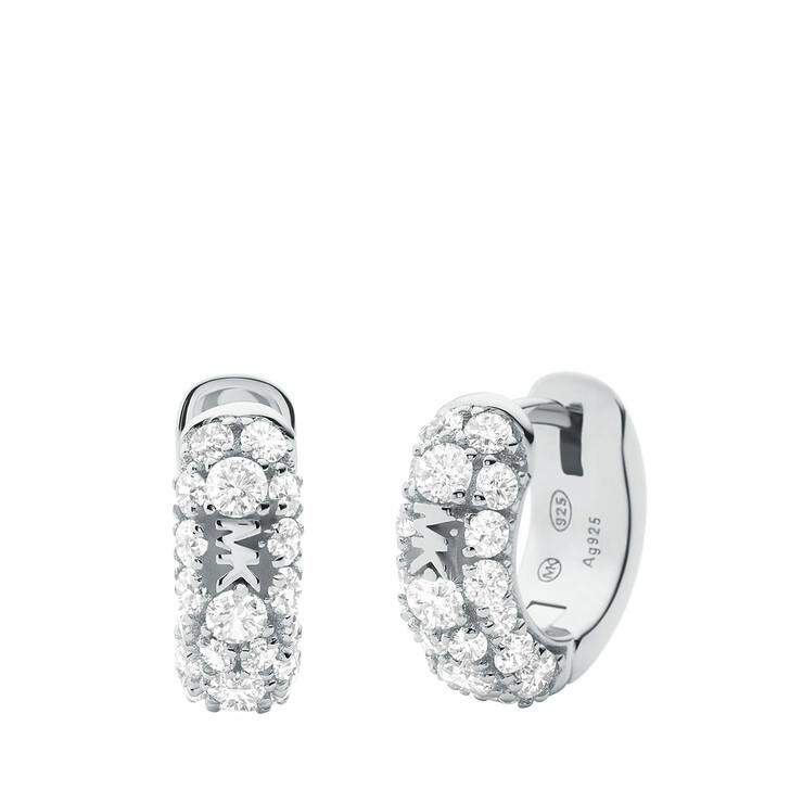 earrings, Michael Kors, Women's Sterling Silver Hoop Earring MKC1497AN040 Silver