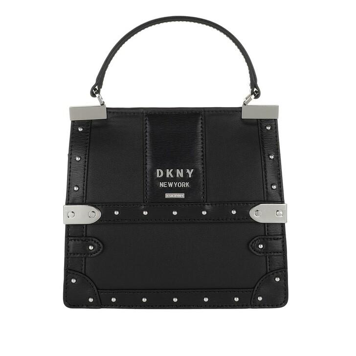Handtasche, DKNY, Louise Top Handle Bag Black/Silver