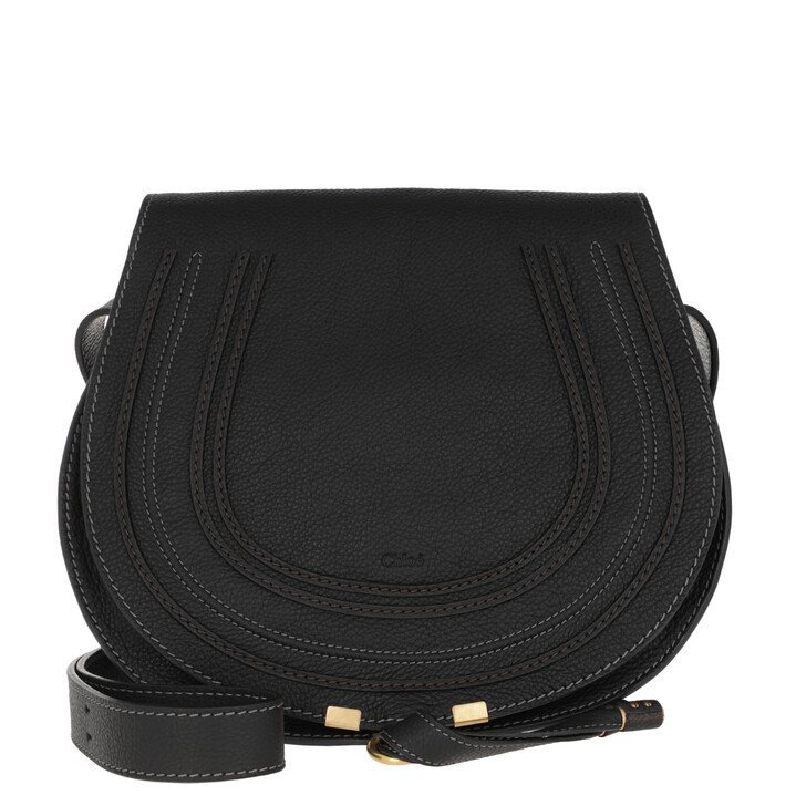Handtasche, Chloé, Marcie Crossbody Large Black