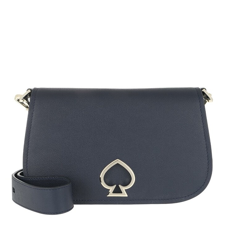 bags, Kate Spade New York, Suzy Medium Saddle Bag Blazer Blue