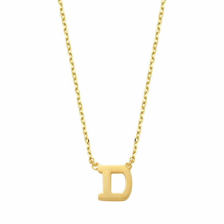 necklaces, Isabel Bernard, Le Marais Chloé 14 Karat Initial Necklace Letter D Gold