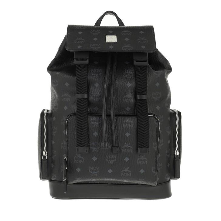 bags, MCM, Brbg Visetos Backpack Medium Black