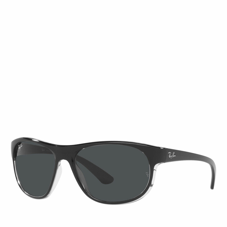sunglasses, Ray-Ban, Unisex Sunglasses 0RB4351 Black On Trasparent